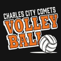 Charles City Volleyball - ® Women's Game V Neck Tee Design