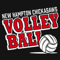 New Hampton Volleyball - Women's Game V Neck Tee Design