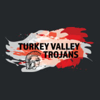 Turkey Valley Trojans Splatter Red and White - Softstyle T-Shirt Design