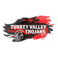 Turkey Valley Trojans Splatter Red and Black - Softstyle T-Shirt Design